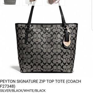 Coach Bags - Coach Peyton Signature Zip Tote